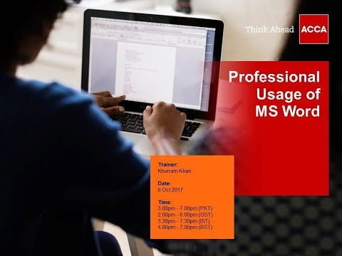 Professional Usage of MS Word