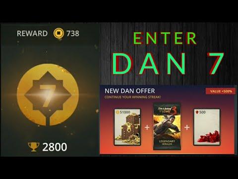 Shadow Fight 3 enter Dan 7 | open Dan 7 offer