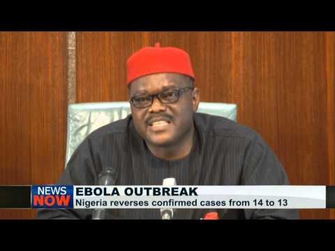Nigeria reverses confirmed Ebola cases to 13