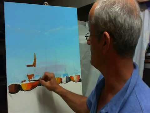 Dipingere riflessi di barche sullacqua 1 parte  YouTube