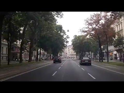 Driving through Vienna, Austria (Oct 4, 2015)