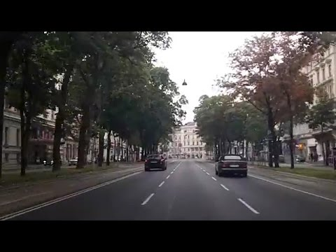 Driving through Vienna, Austria (Oct 4, 2015)
