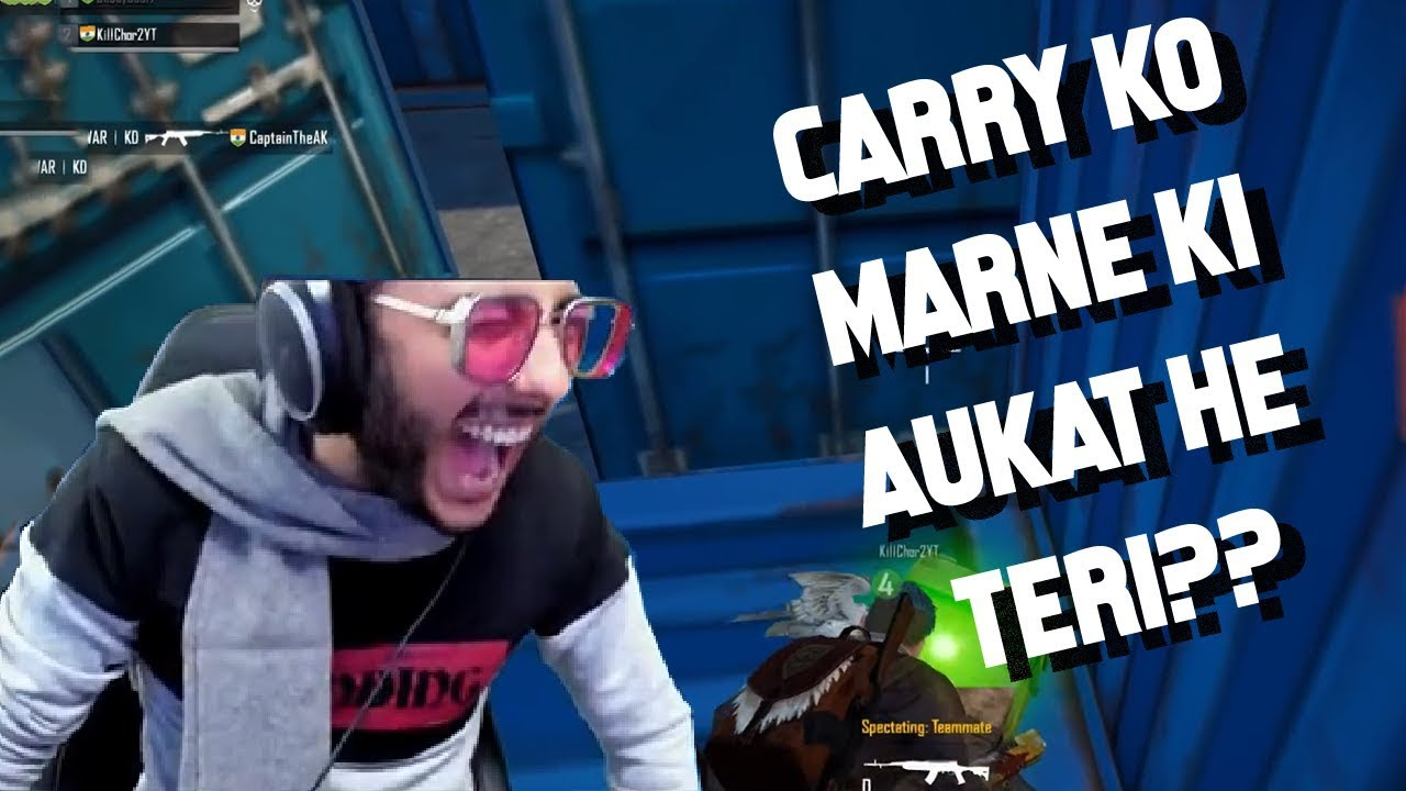 CUTEST KID IN PUBG - ME PIGHAL GAYA - CARRYMINATI FUNNY HIGHLIGHT