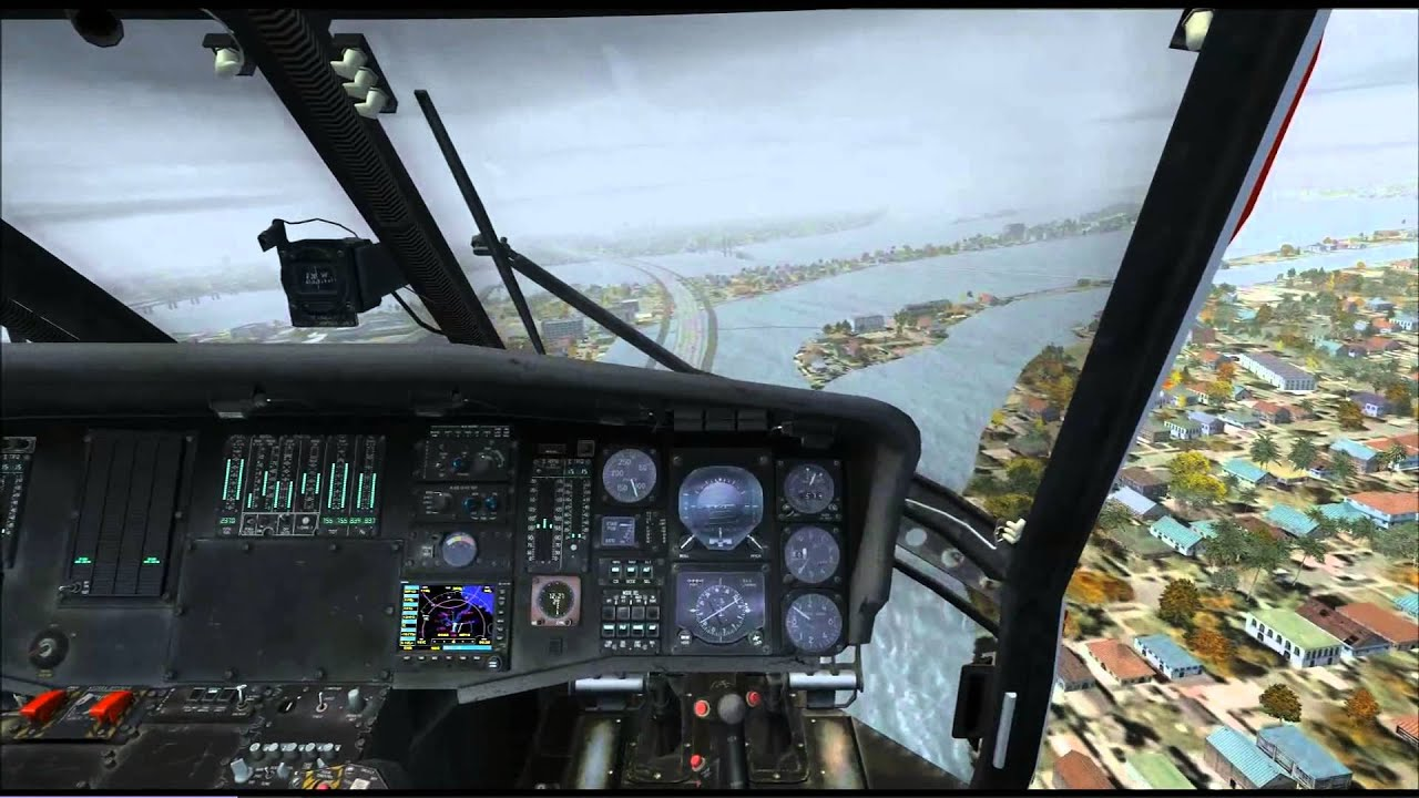 模擬飛行FSX -UH60 颱風天低能見度出擊搜救 - YouTube