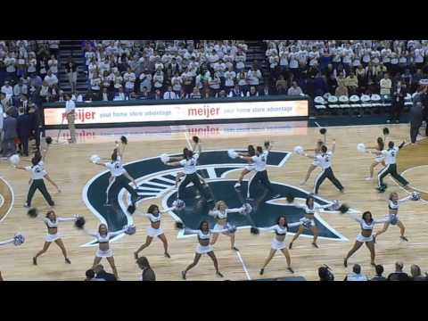 2017 Michigan State Basketball Cheer and Spartan Brass Fight Song
