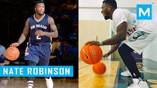 Nate Robinson Basketball Dribbling Drills & Conditioning Training   Muscle Madness