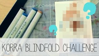 HOW TO DRAW KORRA! Korra Blindfold Challenge (*ノ▽ノ)