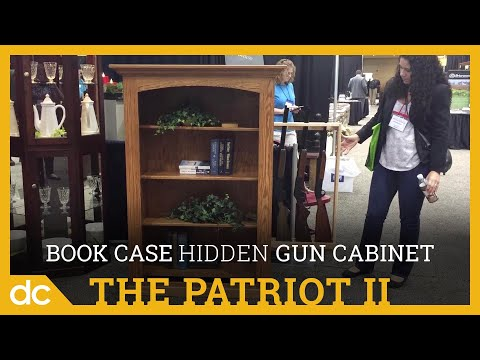 The Patriot II - Small Bookcase with Hidden Gun Cabinet