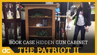 The Patriot II Small Bookcase with Hidden Gun Cabinet keeps your firearms safely hidden on the concealed gun rack behind the