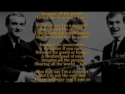 Imagine (Lyric Video) Gerry & The Pacemakers [HQ]