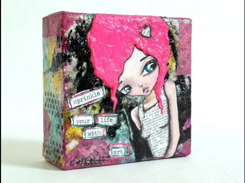 Mixed Media Painting Sprinkle With Art by Lizzy Love