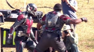 ANT-MAN fights Avenger's FALCON (Making Of)
