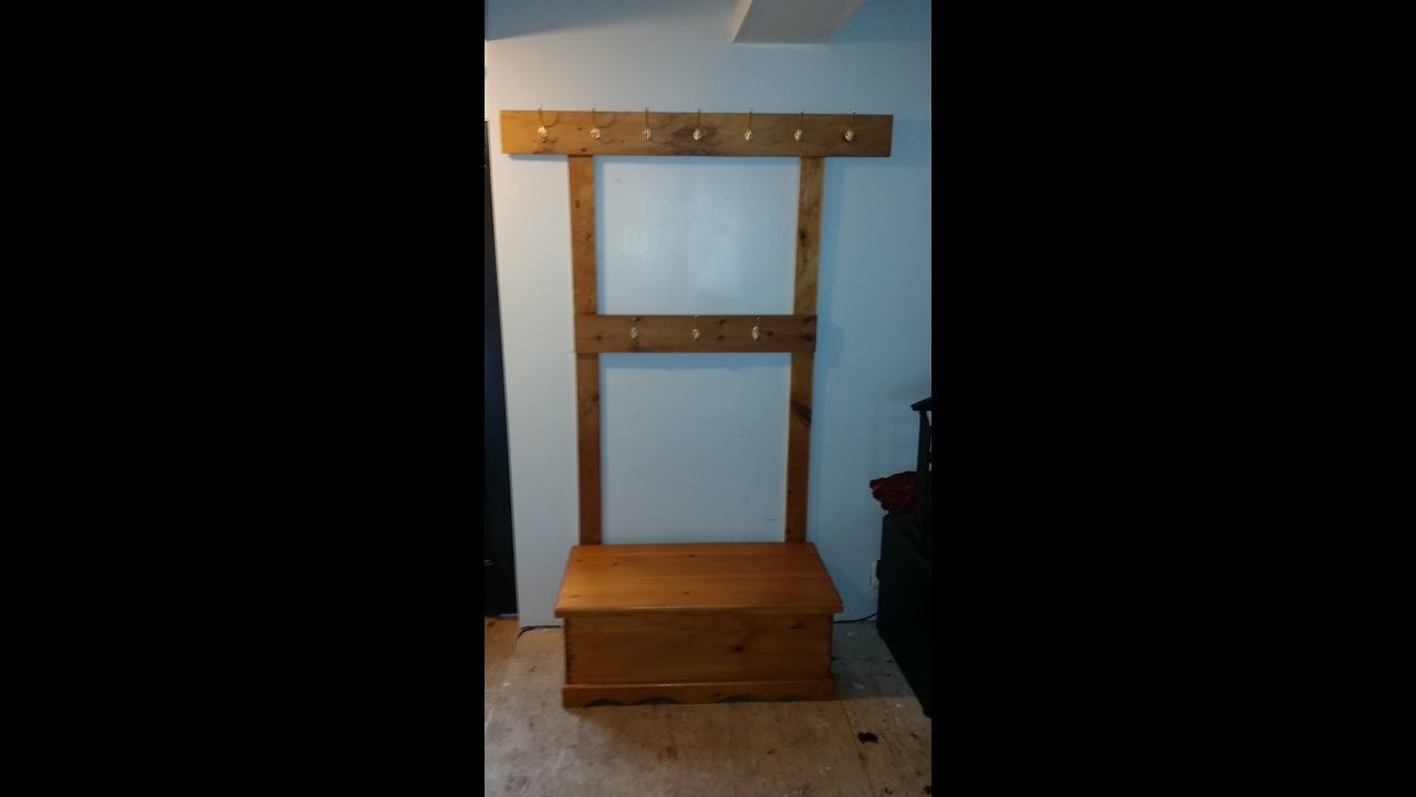 Diy Coat Rack And Bench Youtube