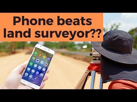 How to land survey with an android phone? It is easy, but is it accurate enough?