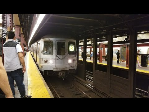 BMT Broadway Line: Riding Pullman Standard R46 R Train from Herald Square to Dekalb Av (6/17/17)