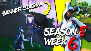 WHERE is the THIRD FREE BANNER for the SEASON 8 (Week 6)-Fortnite Battle Royale CZ/SK