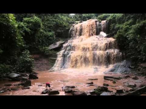Kintampo Falls after a massive rain