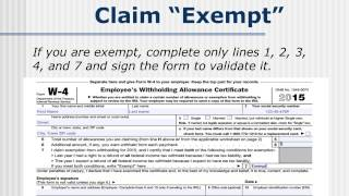 help working kids and students correctly complete a w 4 form