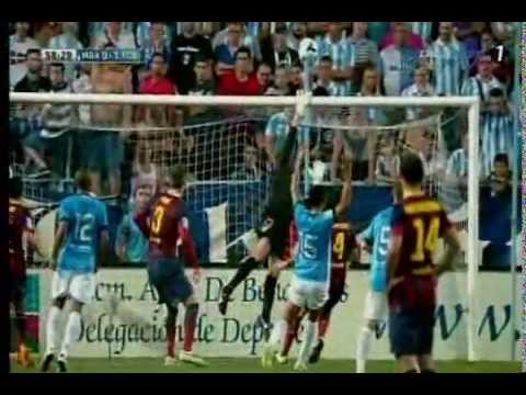 Amazing Pique hit the Post~Malaga-Barcelona 0-1 8/25/2013