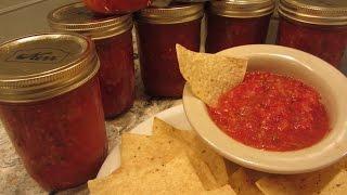 Fresh Salsa Canning Recipe - Favorite!