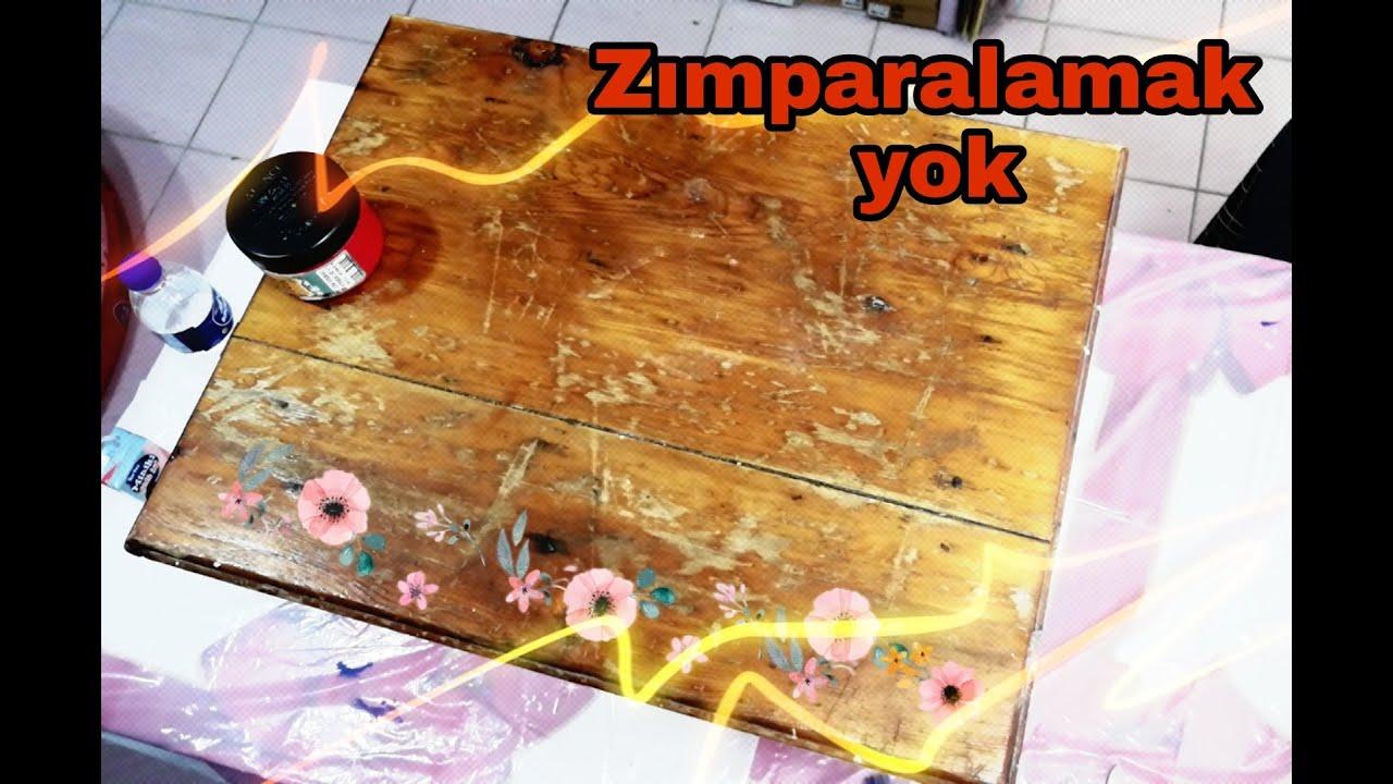 ZIMPARA YAPMADAN SEHPA BOYAMA (Old Coffee Table Conversion) #dıy