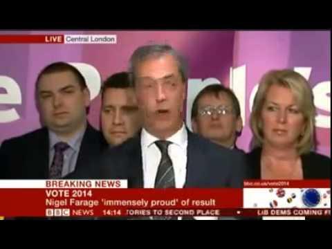 Nigel Farage's European Election Victory Speech