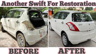 ANOTHER SWIFT FOR DENT PAINT   SWIFT VDI FULL DENT AND PAINT IN LUCKNOW   BEFORE AND AFTER WALE