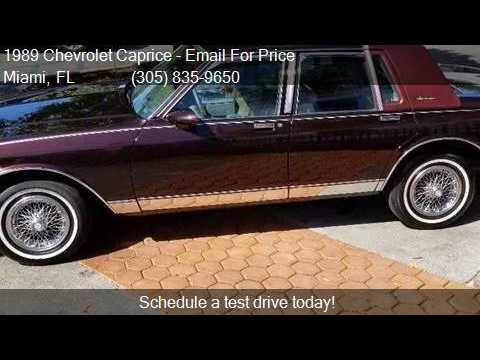 1989 Chevrolet Caprice Classic Brougham 4dr Sedan for sale i
