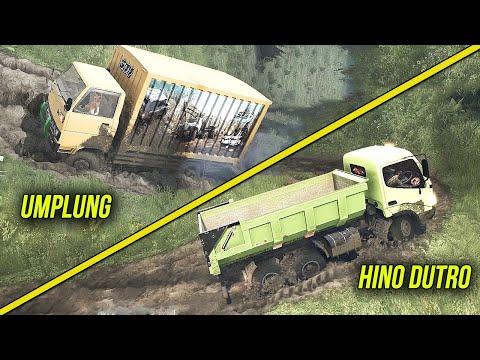 Challenges Hino Dump Truck VS Umplung Tanjakan Offroad- Spintires Mudrunner