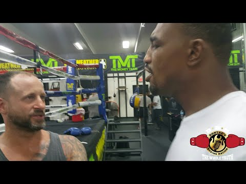 PART 1) MAYWEATHER GYM DEBATE OVER WARD-KOVALEV OUTCOME!!