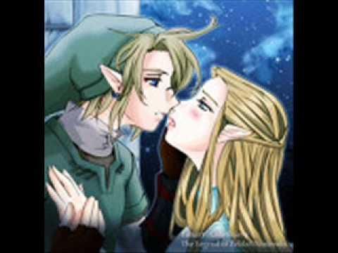 zelda and link kissing