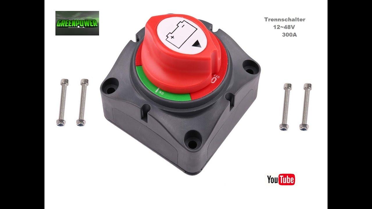 12-48V 300A Batterie-Hauptschalter Trennschalter 2 Schlüssel Lastschalter Boot