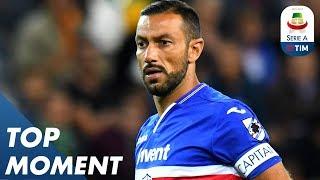 Fabio Quagliarella Scores Insane Back-heel Volley!   Sampdoria 3-0 Napoli   Top Moment   Serie A