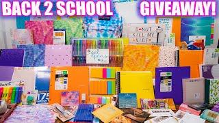 HUGE BACK TO SCHOOL GIVEAWAY #1 - School supplies, Makeup & more