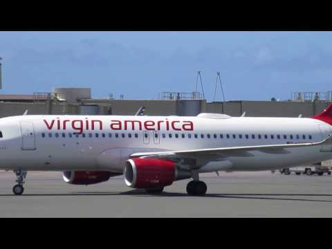 Virgin America Airbus A320 Honolulu International Airport Oahu Hawaii
