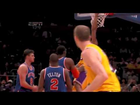 Shannon Brown Alley Oop Dunk from Steve Blake vs. Knicks (Febuary 11, 2011)