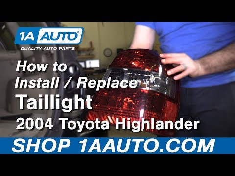 How to Install Replace Tail Light 2004 Highlander