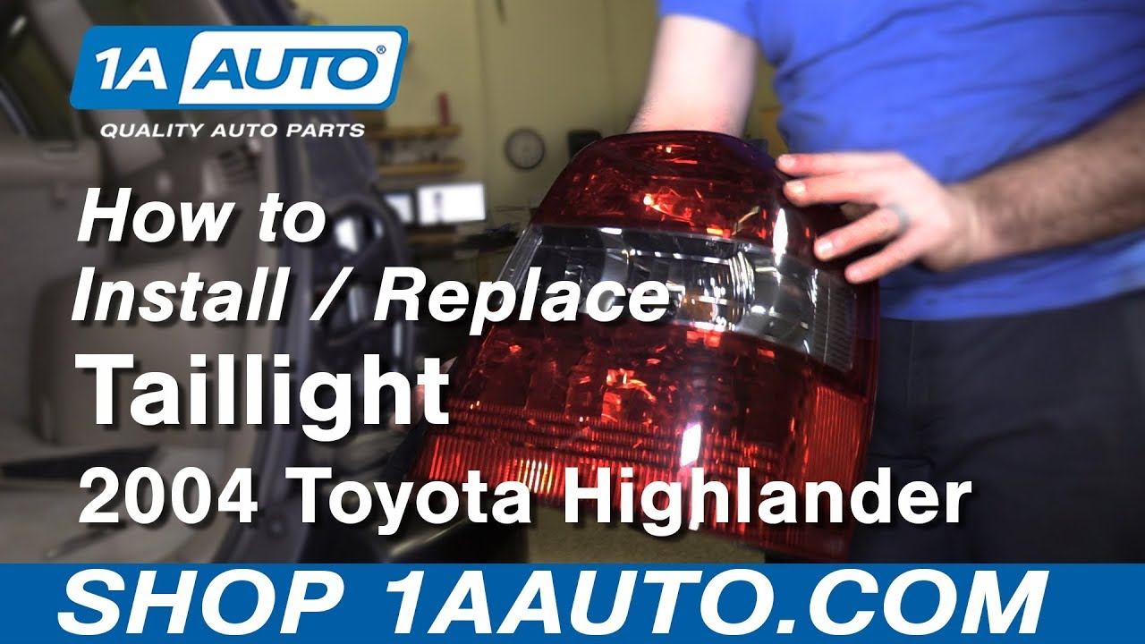 How To Install Replace Tail Light 2004 Highlander Youtube. How To Install Replace Tail Light 2004 Highlander. Toyota. 2001 Toyota Highlander Tail Light Wiring At Scoala.co