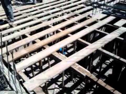Apuntalamiento y encofrado de losa youtube for Losa techo