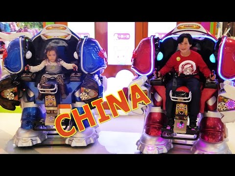 INDOOR MALL PLAYGROUND IN CHINA | FUN KIDS GAMES | JACKIE CHAN THEATER