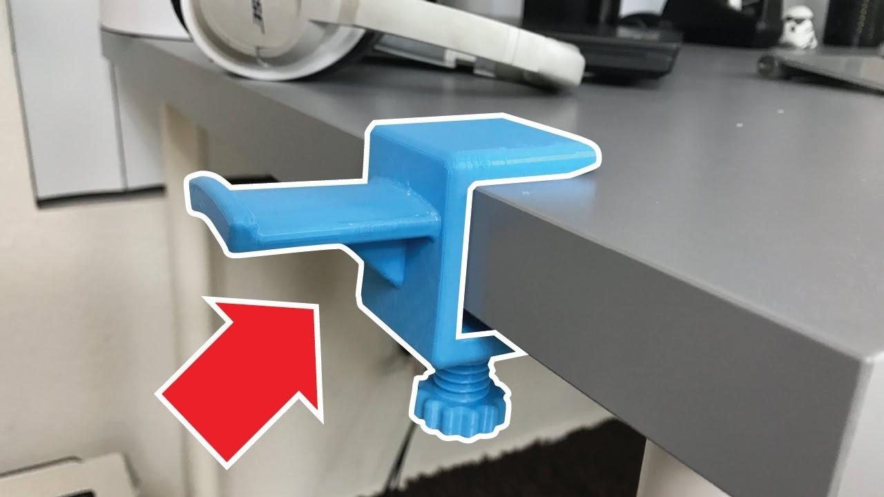 31becd81d40 Headphone Hanger! | 3D Printing - YouTube