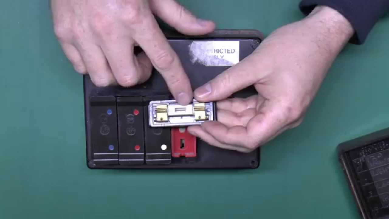 maxresdefault how to replace fusewire in a fusebox with rewireable fuses youtube how to change fuses in fuse box at arjmand.co