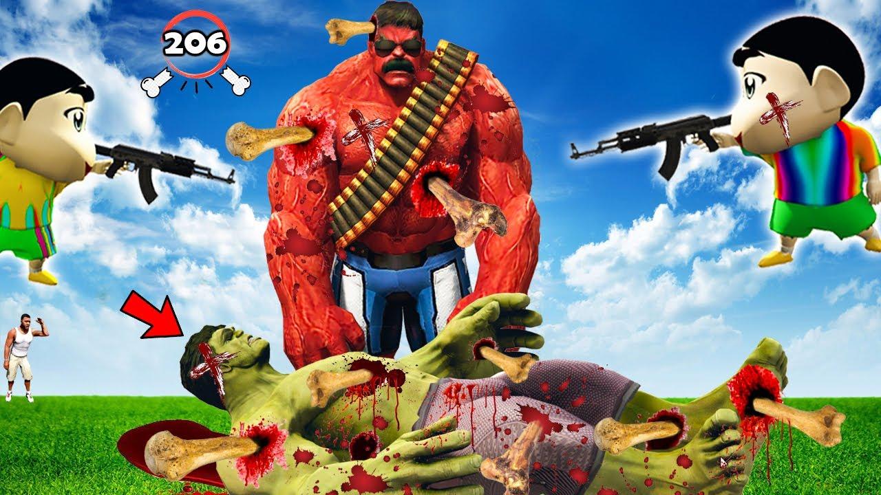 GTA 5 : GTA 5 : Shinchan Broke GOD HULK'S EVERY BONE In GTA 5 ! (GTA 5 mods) ! (GTA 5 mods)