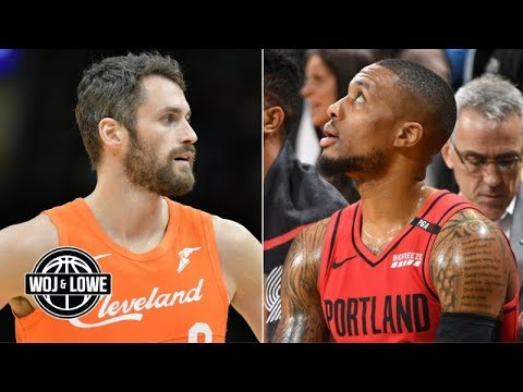 Kevin Love to the Blazers? What if the Clippers dont get Kawhi Leonard? | Woj & Lowe
