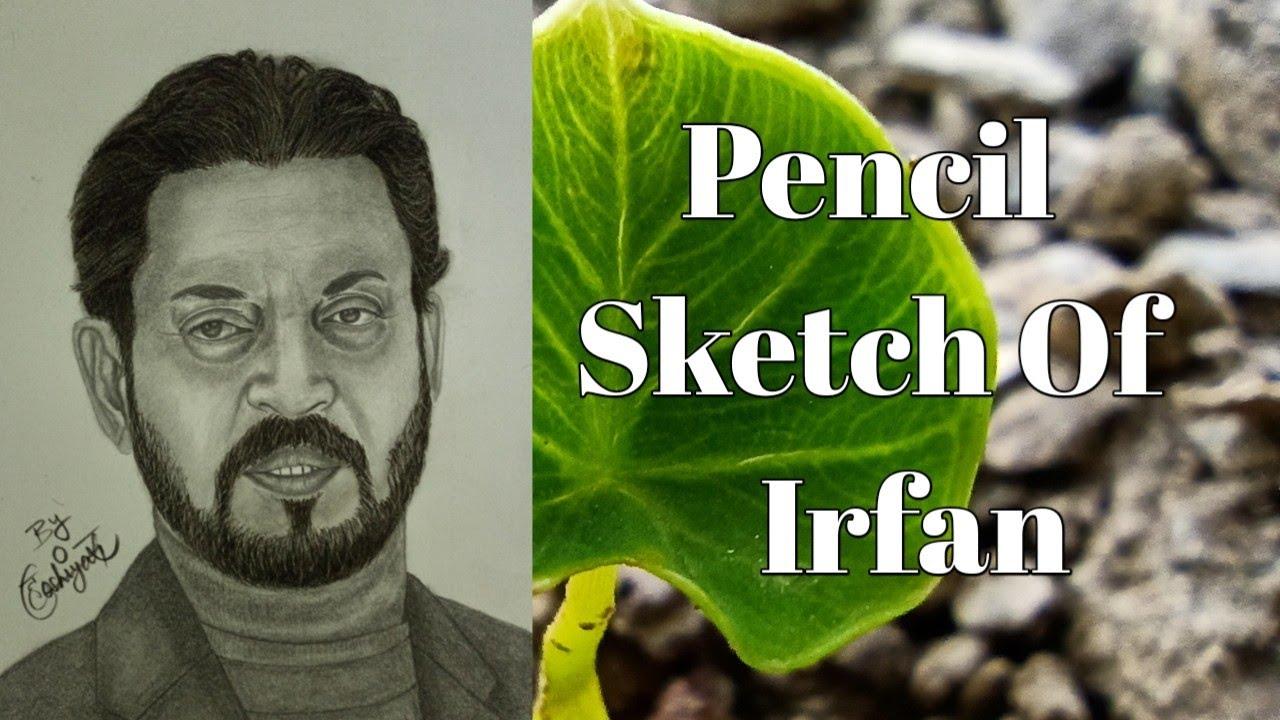 Pencil Sketch of Irfan Khan   By Hoshiyar Chauhan