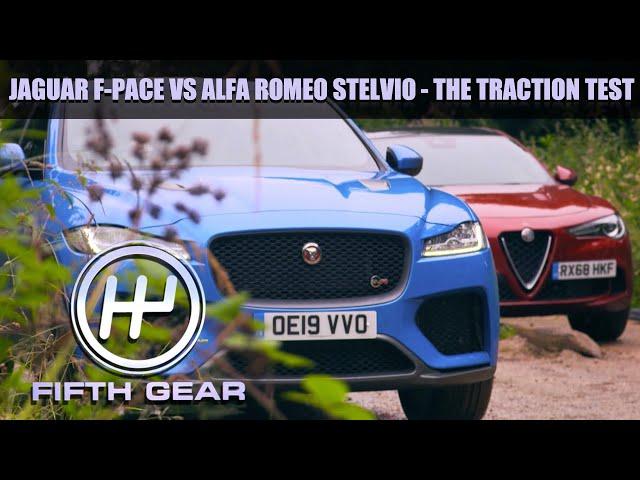 Jaguar F-Pace VS Alfa Romeo Stelvio - Grip   Fifth Gear