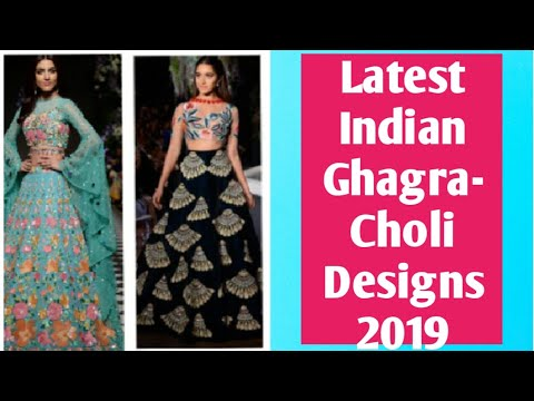 New and latest INDIAN Ghagra-choli design 2019 for party or weeding wearingforgirls/new langhadesign