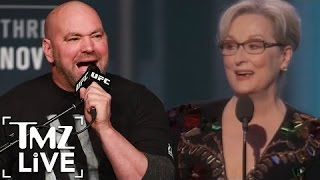 Repeat youtube video Dana White Criticizes Meryl Streep For Her Golden Globes Speech I TMZ LIVE
