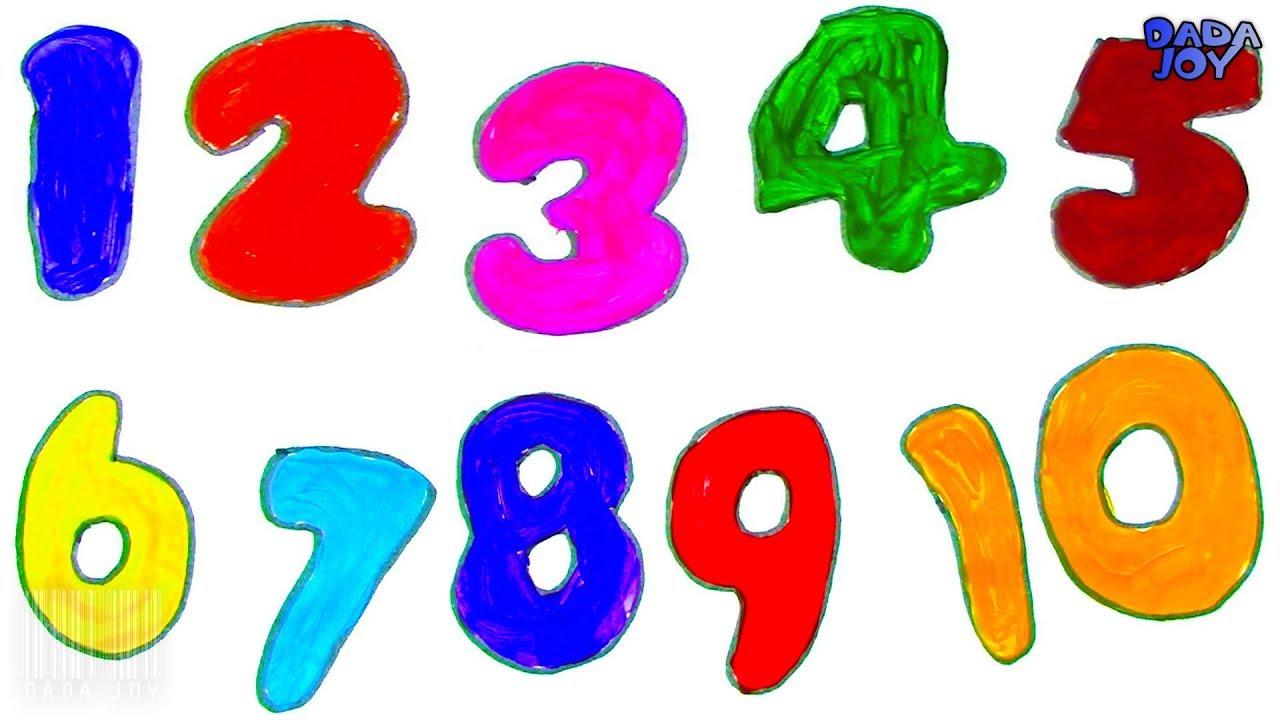 Dibujar Y Colorear Los Números 1 10 Aprender A Contar Del 1 Al 10