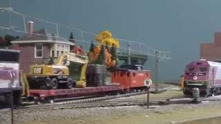 HO Scale MBTA and Downeaster Montage